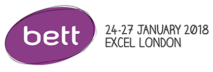 bett uk logo with dates 24-27 January 2018 at Excel London